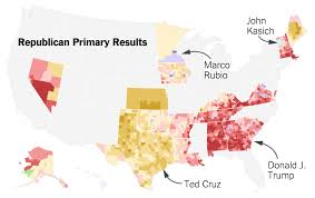 New York State Counties Map by Detailed Maps Of Where Trump Cruz Clinton And Sanders Have Won