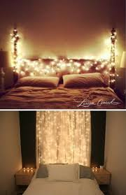 year round christmas lights give a fairy tale feeling in a bedroom