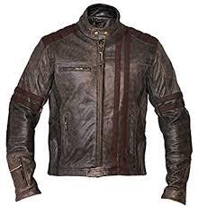 buy biker jacket men s biker vintage motorcycle cafe racer style distressed leather