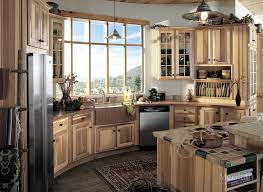 kitchen style eclectic kitchen rustic medium tone cabinet open