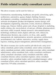 top 8 safety consultant resume samples