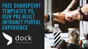 free sharepoint templates vs dock u0027s pre built intranet portal