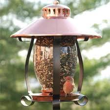 coppertop lantern bird feeder yard envy