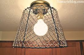 Diy Ceiling Light by Diy Wire Basket Light Liz Marie Blog