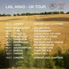 lail arad tickets and 2017 tour dates