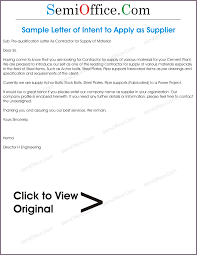 Letter Of Intent Business Proposal by Sample Proposal Letter To Supply Goods Proposalsampleletter Com
