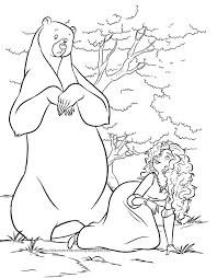 63 disney pixar brave coloring pages images