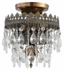 Crystal And Gold Chandelier Semi Flush Gold Chandelier Editonline Us