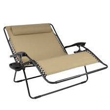Reclining Patio Chairs Huge Folding 2 Person Gravity Chair Double Wide Patio Lounger With