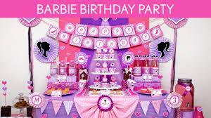 Diy Barney Decorations Barbie Birthday Party Ideas Barbie B129 Youtube