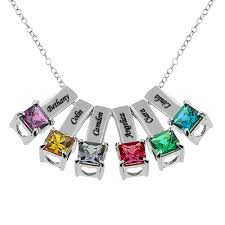 necklace with birthstones for monogramonline birthstone necklaces