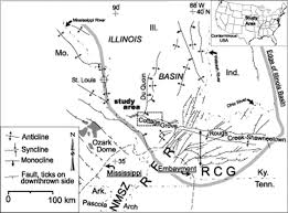 Map Of Southern Illinois by The Cottage Grove Fault System Illinois Basin Late Paleozoic
