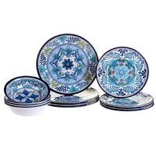 blue dinnerware for less overstock
