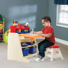 flip and doodle desk amazon com step2 flip and doodle easel desk with stool toys games