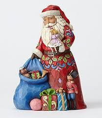 Jim Shore Christmas Decorations Australia by Jim Shore Christmas In The Bag Santa Figurine Z Christmas Santa