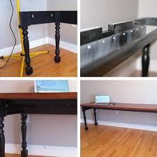Cable Management Computer Desk Jonathan U0027s Diy Rain Gutter Cable Management Desk Apartment Therapy