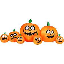 light up pumpkins for halloween 8 5 inflatable light up pumpkin patch halloween decoration