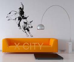 cowboy art promotion shop for promotional cowboy art on aliexpress com rodeo cowboy bullfight decal wall art vinyl sticker home living room dorm office interior removable decor 122 x 94cm