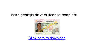 fake georgia drivers license template google docs