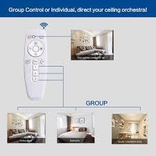 Living Room Wireless Lighting 12 U0027 U0027 Smart Led Ceiling Light 24w Flush Wall Mount Lamp Wireless