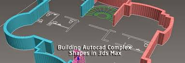 building autocad complex shapes in 3ds max 3d max tutorial for