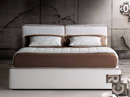 double bed with upholstered headboard guadalupe by milano bedding