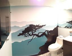 bathroom wall mural ideas landscape murals scenic wallpaper