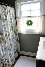 Cafe Curtains For Bathroom Damask Red Curtains Ideas Mellanie Design