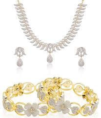 diamond necklace collection images Jewels galaxy wedding collection of american diamond necklace jpg