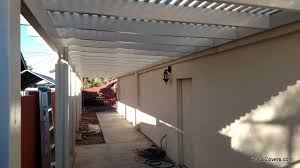 Fabric Awnings Replace Fabric Awnings With Alumawood Before And After Pictures