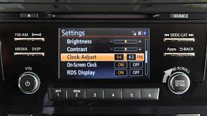 nissan rogue youtube 2016 2016 nissan rogue setting the clock without navigation if so