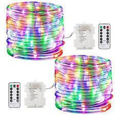 string lights with battery pack amazon com gdealer 2 pack 100 led lights battery operated