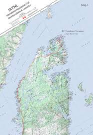 Lan Route Map by International Appalachian Trail Newfoundland And Labrador