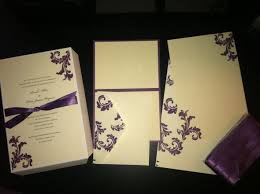 brides wedding invitation kits purple wedding invitation kits amulette jewelry
