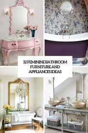 Design Bathroom Furniture 32 Feminine Bathroom Furniture And Appliances Ideas Digsdigs