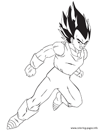 cartoon dragon ball vegeta coloring coloring pages printable