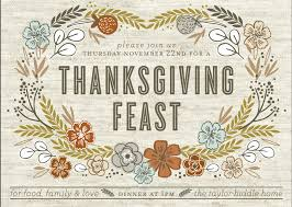 thanksgiving picture cards artistic thanksgiving dinner and feast invitation card design with