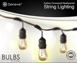 Glass Float String Lights by Amazon Com Outdoor String Lights With 15 E26 Sockets By Deneve
