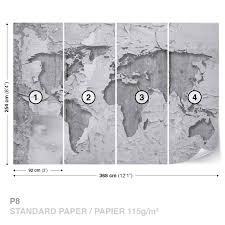 world map concrete texture wall mural photo wallpaper 2819dk ebay world map concrete texture wall mural photo wallpaper