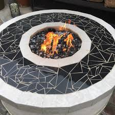 Fire Pit Rocks by Fire Pit With Glass Rocks Takes Propane For Sale In Hacienda