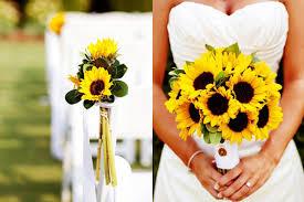 sunflower wedding bouquet sunflower wedding flower arrangements wedding corners