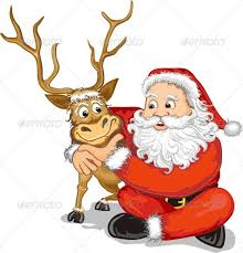santa and reindeer santa claus and reindeer by papaeiwi graphicriver