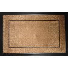 shop allen roth rectangular door mat actual 23 5 in x 35 5 in