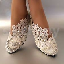 wedding shoes flats white ivory pearls lace wedding shoes flat ballet bridal