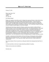 analyst cover letter sample business analyst cover letter sample