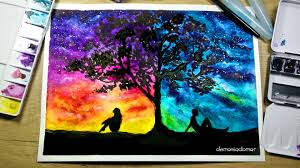 two different worlds speed painting watercolor u0026 ink youtube