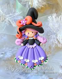 handcrafted polymer clay witch by myjoyfulmoments