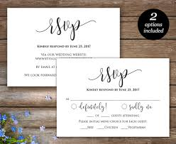 Wedding Invitation Insert Cards Rsvp Printable Card Wedding Rsvp Cards Wedding Response