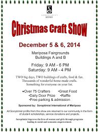 mariposa soroptimist to host annual christmas craft show december