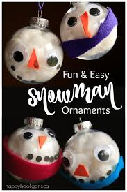 easy adorable snowman ornament for to make happy hooligans